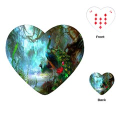 Beautiful Peacock Colorful Playing Cards (Heart)