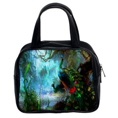 Beautiful Peacock Colorful Classic Handbags (2 Sides)