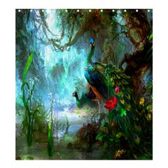 Beautiful Peacock Colorful Shower Curtain 66  X 72  (large)