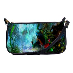 Beautiful Peacock Colorful Shoulder Clutch Bags