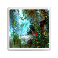 Beautiful Peacock Colorful Memory Card Reader (square)