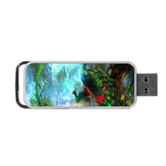 Beautiful Peacock Colorful Portable USB Flash (One Side)