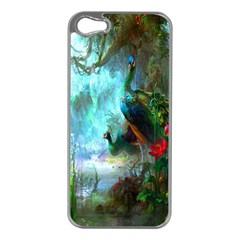 Beautiful Peacock Colorful Apple Iphone 5 Case (silver)