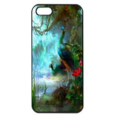 Beautiful Peacock Colorful Apple iPhone 5 Seamless Case (Black)