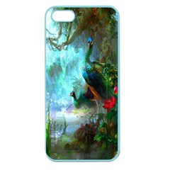 Beautiful Peacock Colorful Apple Seamless iPhone 5 Case (Color)
