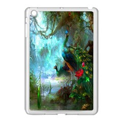 Beautiful Peacock Colorful Apple iPad Mini Case (White)