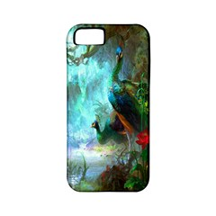 Beautiful Peacock Colorful Apple iPhone 5 Classic Hardshell Case (PC+Silicone)
