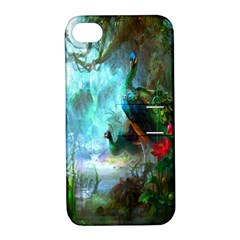 Beautiful Peacock Colorful Apple Iphone 4/4s Hardshell Case With Stand