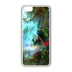 Beautiful Peacock Colorful Apple iPhone 5C Seamless Case (White)