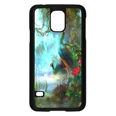 Beautiful Peacock Colorful Samsung Galaxy S5 Case (Black)