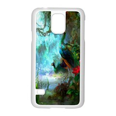 Beautiful Peacock Colorful Samsung Galaxy S5 Case (white)