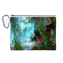 Beautiful Peacock Colorful Canvas Cosmetic Bag (l)