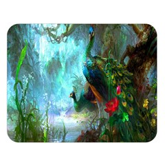 Beautiful Peacock Colorful Double Sided Flano Blanket (large)