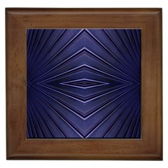 Blue Metal Abstract Alternative Version Framed Tiles