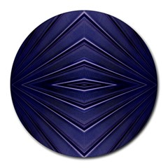 Blue Metal Abstract Alternative Version Round Mousepads