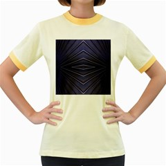 Blue Metal Abstract Alternative Version Women s Fitted Ringer T Shirts