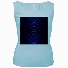 Blue Metal Abstract Alternative Version Women s Baby Blue Tank Top