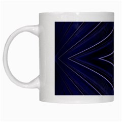 Blue Metal Abstract Alternative Version White Mugs