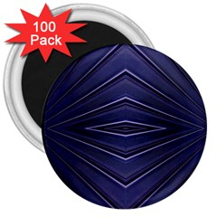 Blue Metal Abstract Alternative Version 3  Magnets (100 pack)