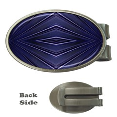 Blue Metal Abstract Alternative Version Money Clips (oval)