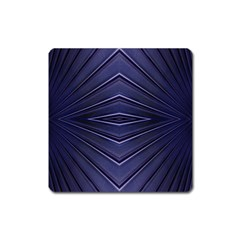 Blue Metal Abstract Alternative Version Square Magnet