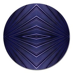 Blue Metal Abstract Alternative Version Magnet 5  (round)