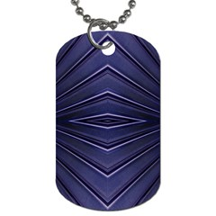 Blue Metal Abstract Alternative Version Dog Tag (Two Sides)