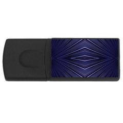 Blue Metal Abstract Alternative Version USB Flash Drive Rectangular (2 GB)