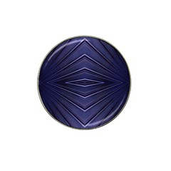 Blue Metal Abstract Alternative Version Hat Clip Ball Marker (4 Pack)