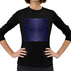 Blue Metal Abstract Alternative Version Women s Long Sleeve Dark T-Shirts