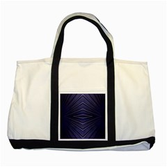 Blue Metal Abstract Alternative Version Two Tone Tote Bag