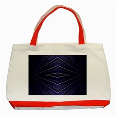Blue Metal Abstract Alternative Version Classic Tote Bag (Red)