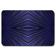 Blue Metal Abstract Alternative Version Large Doormat