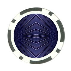 Blue Metal Abstract Alternative Version Poker Chip Card Guard (10 Pack)