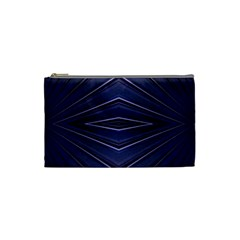 Blue Metal Abstract Alternative Version Cosmetic Bag (small)