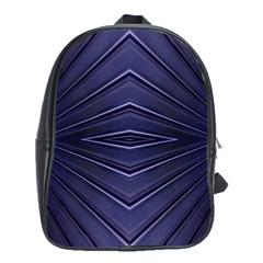 Blue Metal Abstract Alternative Version School Bags(large)