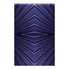 Blue Metal Abstract Alternative Version Shower Curtain 48  X 72  (small)