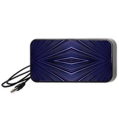 Blue Metal Abstract Alternative Version Portable Speaker (Black)