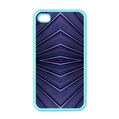 Blue Metal Abstract Alternative Version Apple Iphone 4 Case (color)