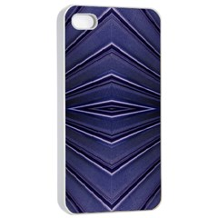 Blue Metal Abstract Alternative Version Apple iPhone 4/4s Seamless Case (White)