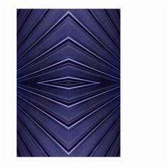 Blue Metal Abstract Alternative Version Large Garden Flag (Two Sides)