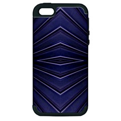 Blue Metal Abstract Alternative Version Apple iPhone 5 Hardshell Case (PC+Silicone)