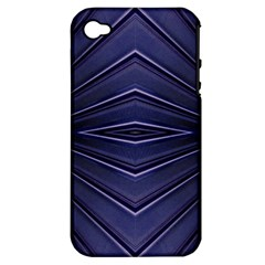 Blue Metal Abstract Alternative Version Apple iPhone 4/4S Hardshell Case (PC+Silicone)