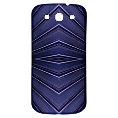 Blue Metal Abstract Alternative Version Samsung Galaxy S3 S III Classic Hardshell Back Case