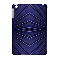 Blue Metal Abstract Alternative Version Apple Ipad Mini Hardshell Case (compatible With Smart Cover)