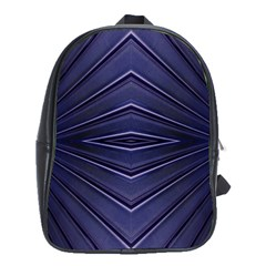 Blue Metal Abstract Alternative Version School Bags (XL)