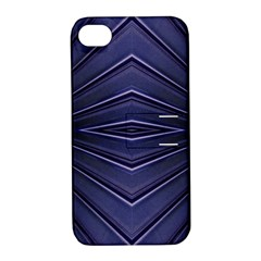 Blue Metal Abstract Alternative Version Apple iPhone 4/4S Hardshell Case with Stand