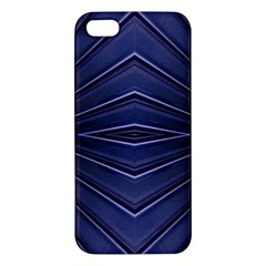Blue Metal Abstract Alternative Version Apple iPhone 5 Premium Hardshell Case