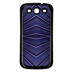 Blue Metal Abstract Alternative Version Samsung Galaxy S3 Back Case (Black)