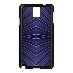 Blue Metal Abstract Alternative Version Samsung Galaxy Note 3 N9005 Case (Black)